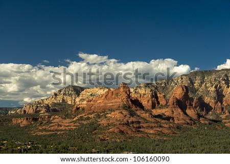 Ariel view of Sedona - stock photo