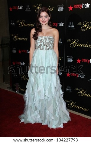 Ariel Winter at the 2012 Gracie Awards Gala, Beverly Hilton Hotel, Beverly Hills, CA 05-22-12