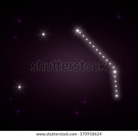 Aries zodiac sign. The Ram horoscope constellations background. Constellation map. Constellations background. Space stars wallpaper. Zodiac constellations. Galactic constellations and stars. - stock photo