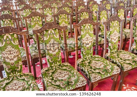Aristocratic and elegant Chairs - stock photo
