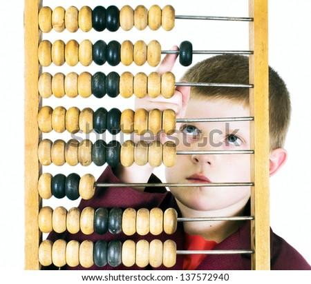 Arithmetic lesson - stock photo
