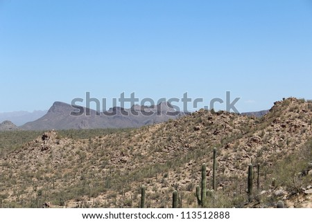 Arizona Desert Landscape near Tucson - stock photo
