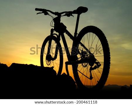 Arizona desert mountain biking - stock photo