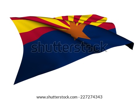 Arizona flag - USA state flags collection no_4