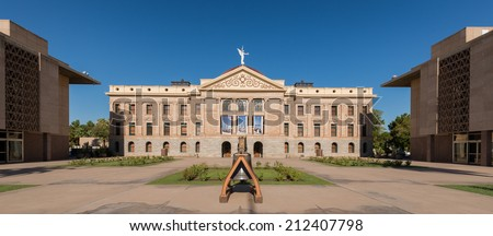 Arizona State Capitol building in Phoenix, Arizona - stock photo