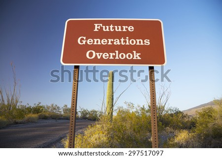 Arizona, Tucson, USA, April 9 2015, Future Generations Overlook, Saguaro National Park West, Arizona