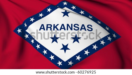 Arkansas flag - USA state flags collection - stock photo