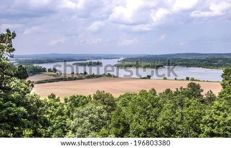 Arkansas river near Little Rock - stock photo
