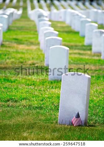 Arlington National Cemetery Virginia VA near Washington DC United States - stock photo