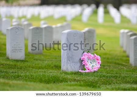 Arlington National Cemetery - Washington DC United States - stock photo