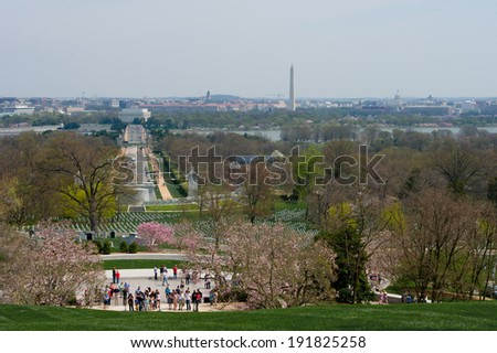 Arlington National Cemetery, Washington DC, USA - stock photo