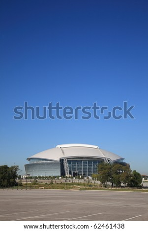 ARLINGTON, TEXAS - SEPTEMBER 28: Dallas Cowboy Field, home of the NFL Cowboys, on September 28, 2010 in Arlington, Texas. This state of the art facility opened in 2009, replacing Texas Stadium. - stock photo