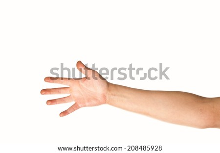 Arm and hand - stock photo