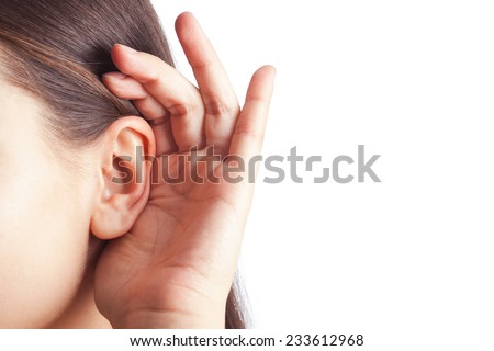 arm attached to the ear - stock photo