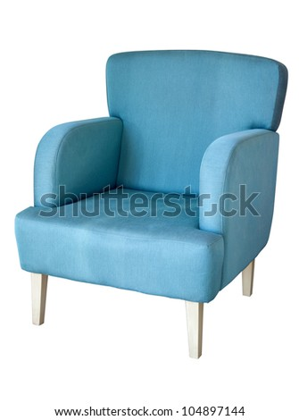 Arm chair isolated on white - stock photo