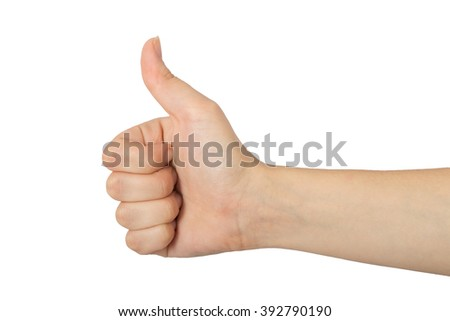 Arm of young girl on white background close up.