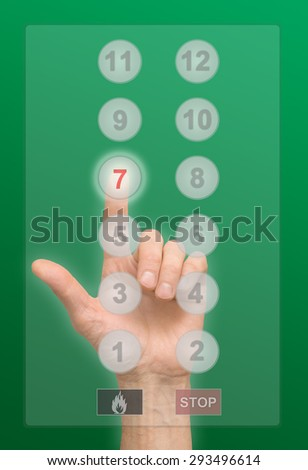 arm press tne button - stock photo