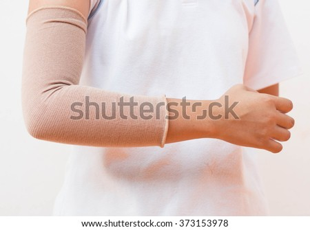 arm wrapped to elbow injuries.