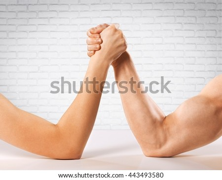 Arm wrestling. - stock photo