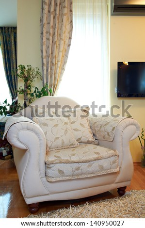 Armchair in classic living room