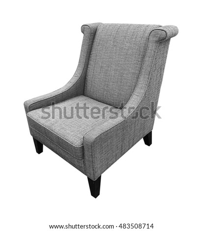 Armchair  isolated on white background. Gray color.