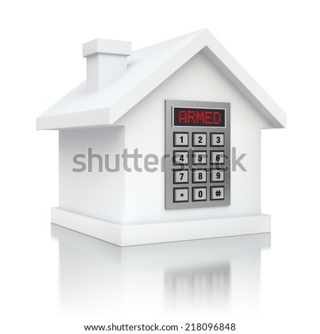Armed house security alarm  - stock photo