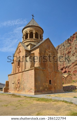 Armenia, ancient monastery Noravank in the mountains