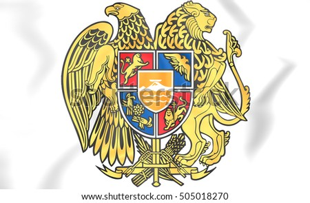 Armenia Coat of Arms. 3D Illustration.