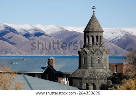 Armenian Apostolic church, Sevan - stock photo