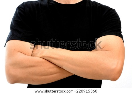 Arms crossed.  - stock photo