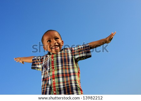 Arms Spread Out - stock photo