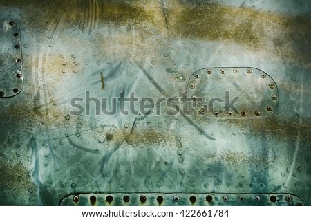 Army Abstract Vintage Metal Background - stock photo