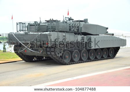 Army Armored War Vehicle - stock photo