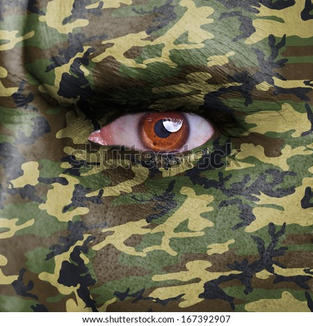 How to Apply Camo Face Paint  Ghost Face  YouTube