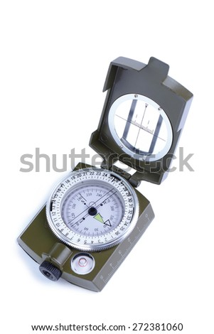 Army compass on a white background.
