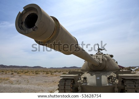 Army desert tank - stock photo