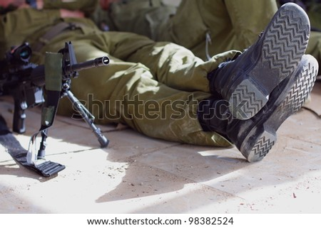 army footwear - stock photo