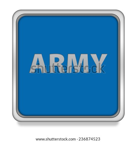 Army square icon on white background