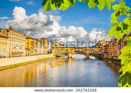 Arno river in Florence, Italy - stock photo