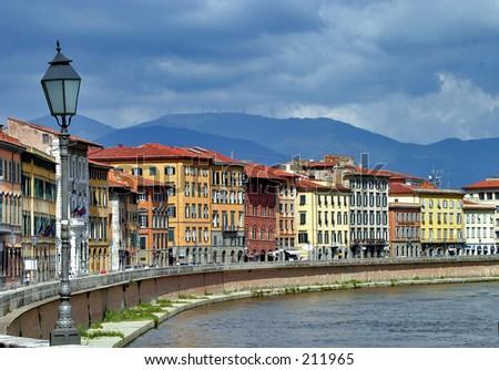 Arno River, Italy - stock photo