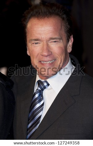 Arnold Schwarzenegger at The UK Premiere of The Last Stand, Odeon West End, Leicester Square, London. 22/01/2013 Picture by: Simon Burchell