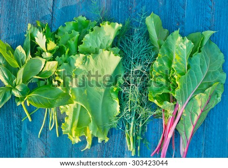 aroma parsley - stock photo