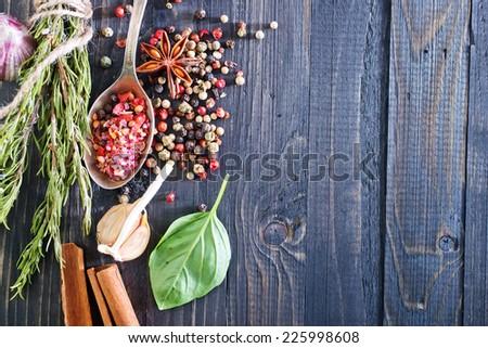 aroma spice - stock photo