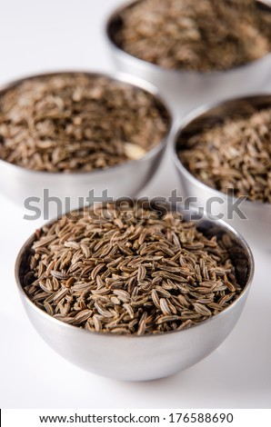 Aromated cumin seeds for various meals. - stock photo