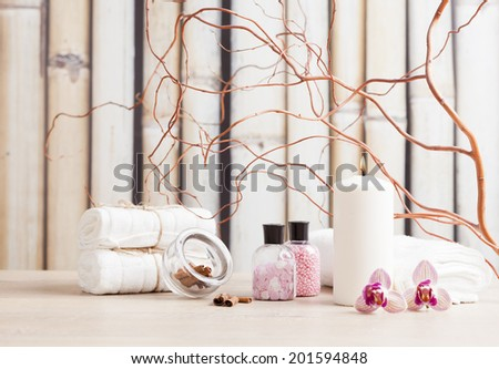 aromatherapy and wellnes products - stock photo