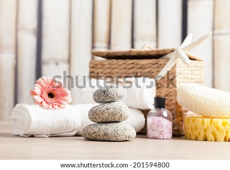 aromatherapy and wellness products - stock photo