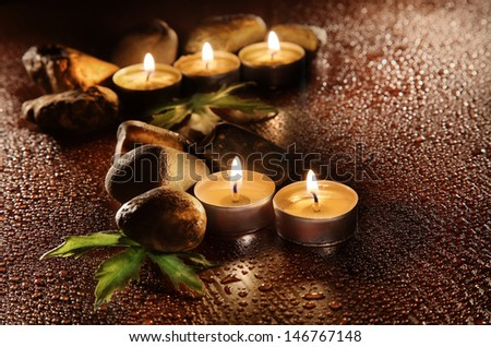 aromatic candles - stock photo