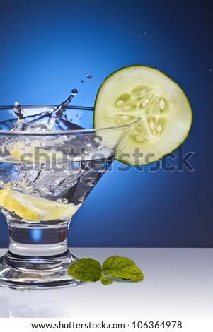 Aromatic gin tonic - stock photo