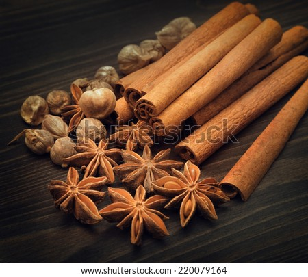 Aromatic spices - stock photo