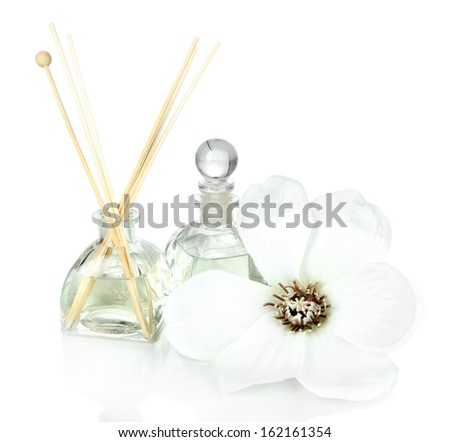 Aromatic sticks for home isolated on white - stock photo
